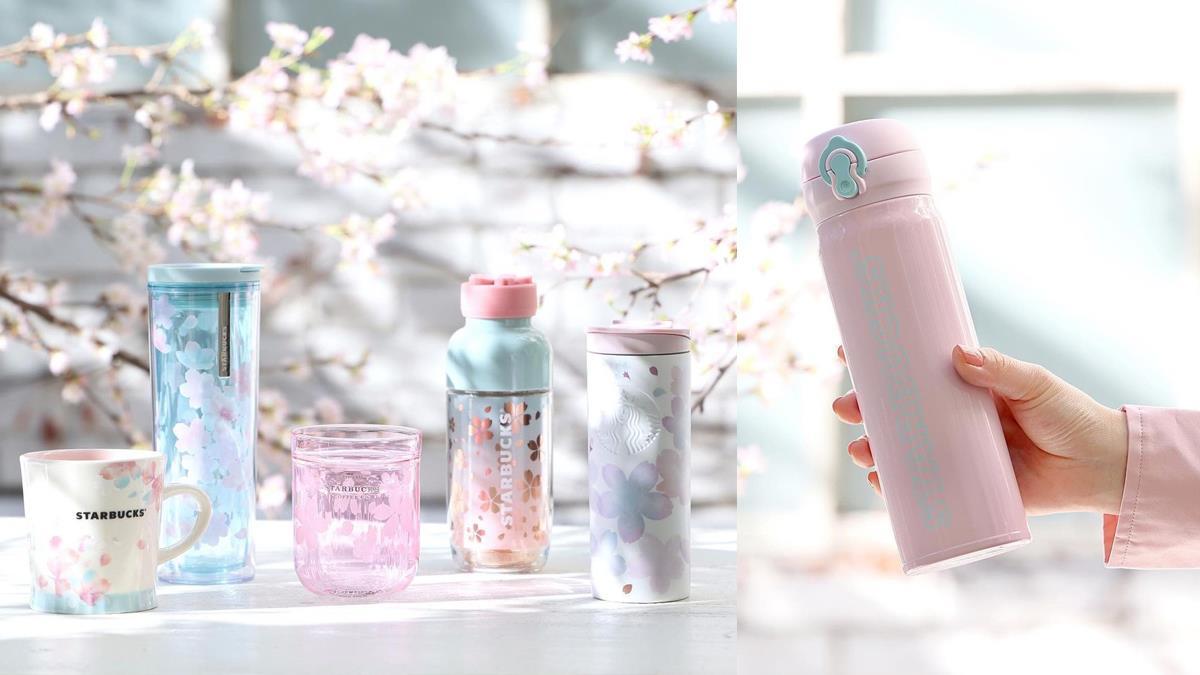 吹起清爽的粉色浪漫!星巴克「櫻之氣息」新系列上市,透明杯款&新隨行卡讓人想直奔春天