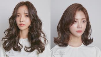 隨手一撥都超吸睛!2021韓國髮型師激推「中長髮捲髮」範本,手繞電棒燙對圓臉的修飾度超高!