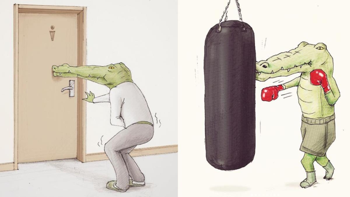 全地球應該沒人比他更慘了!身為一隻鱷魚「8個心裡永遠的痛」,內急不能自己開門上廁所超級哀傷的啊~
