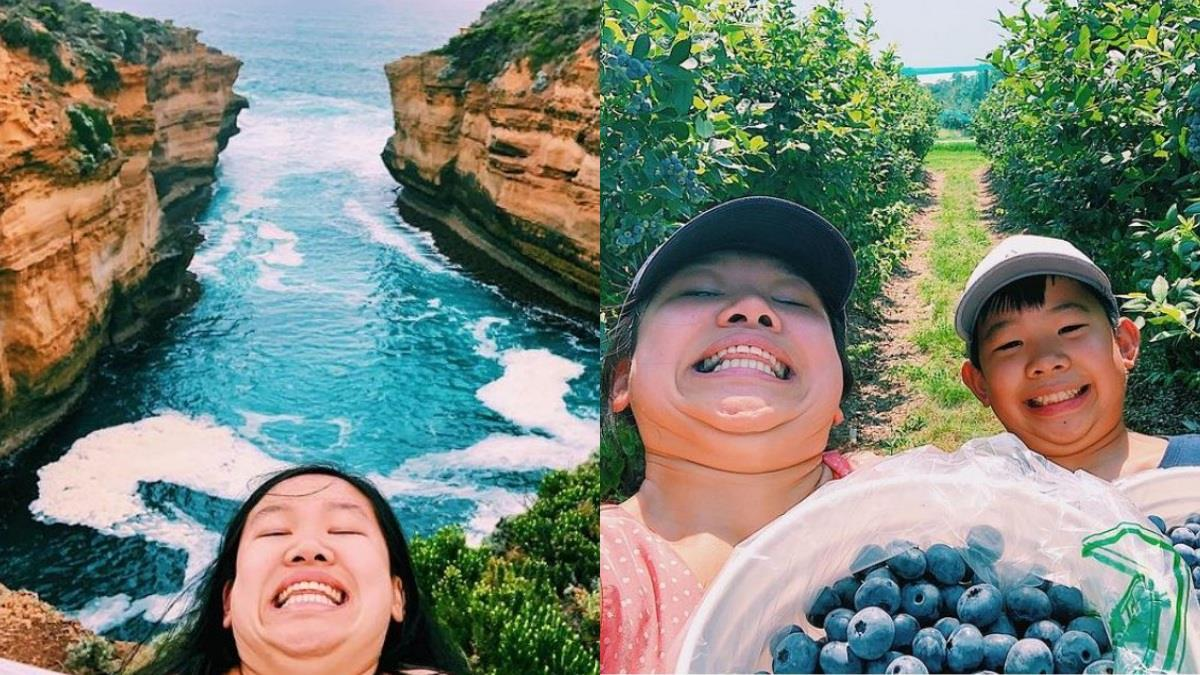 另類「網美照」超吸睛!華裔女孩「雙下巴旅行照」網路爆紅,漂亮不由他人定義、開心最重要~