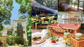苗栗出現童話裡的森林小屋!「三義歐風純白民宿」教你品味慢生活的美好,用野餐的方式吃早餐太享受