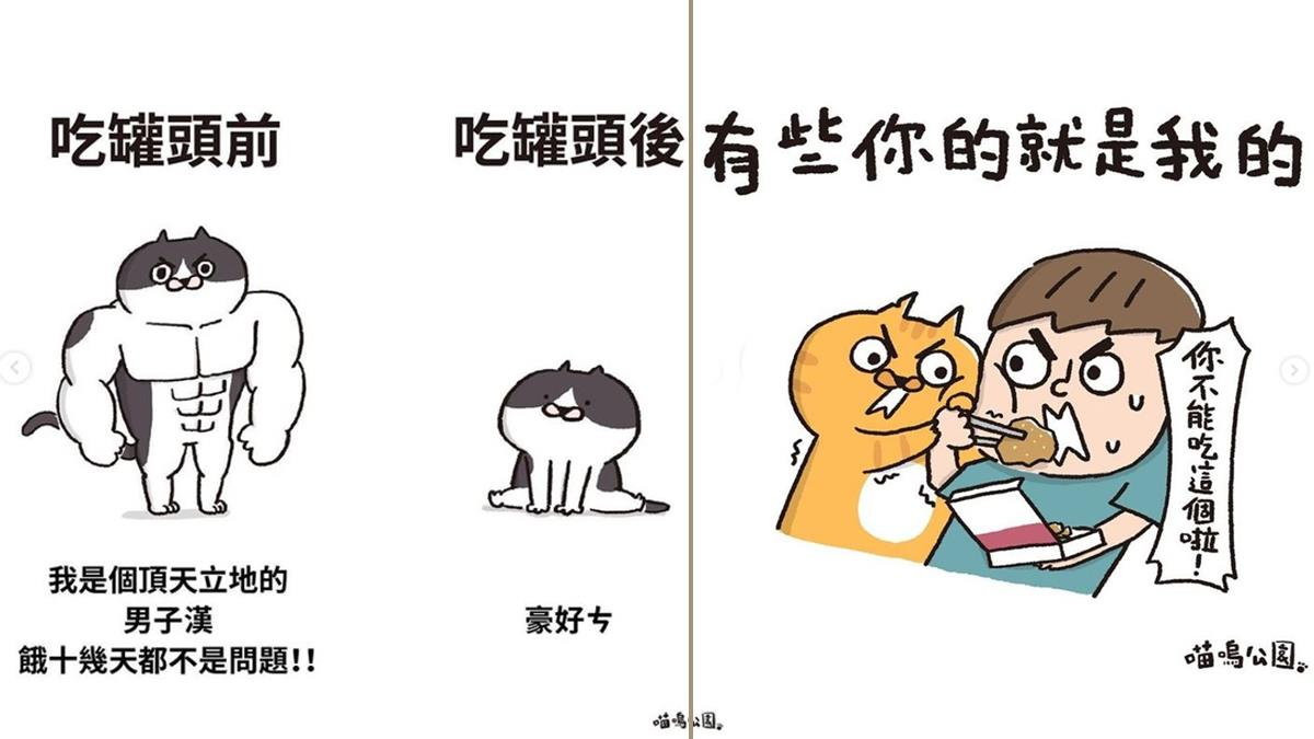 再傲嬌的貓,派出罐罐就收服!超精闢「貓咪日常插畫」,你家主子吃東西也會使出霹靂一閃嗎!?
