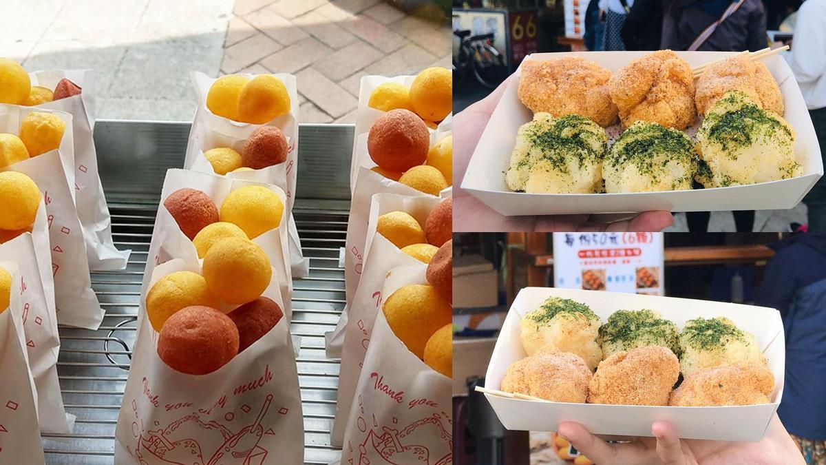 台中銅板美食再+1!秒殺「燒麻糬&地瓜球」讓人甘願排隊,8種鹹甜口味燒麻糬一次滿足~