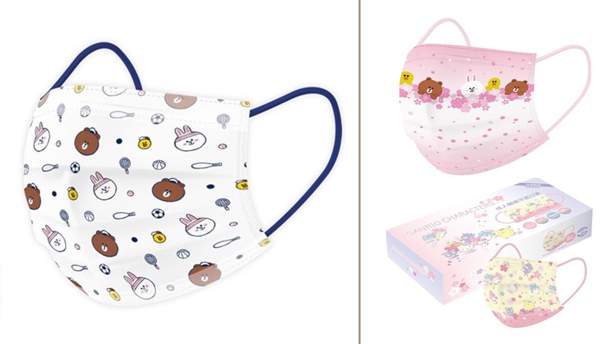 跟著熊大、KITTY賞櫻花!「春季口罩新品」可愛3連發,三麗鷗全明星都登上口罩啦~