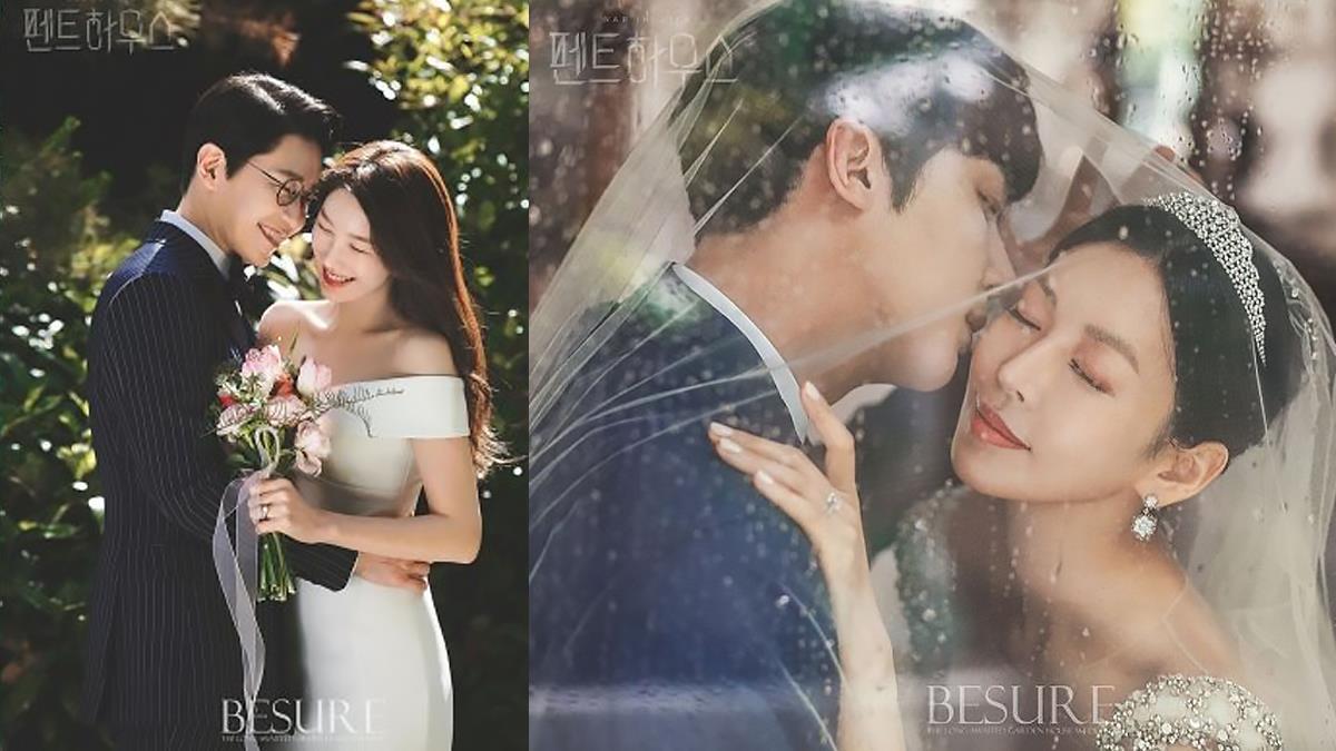 超高質感誠意滿點!韓劇《Penthouse》絕美婚紗照真的找專業婚攝拍,網友甜喊:「婚紗範本!」
