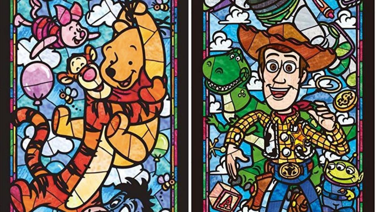 是從歐洲教堂拆下來的嗎♥迪士尼「彩繪玻璃拼圖」美到炸裂,半透明材質、透光後仙氣更升級~
