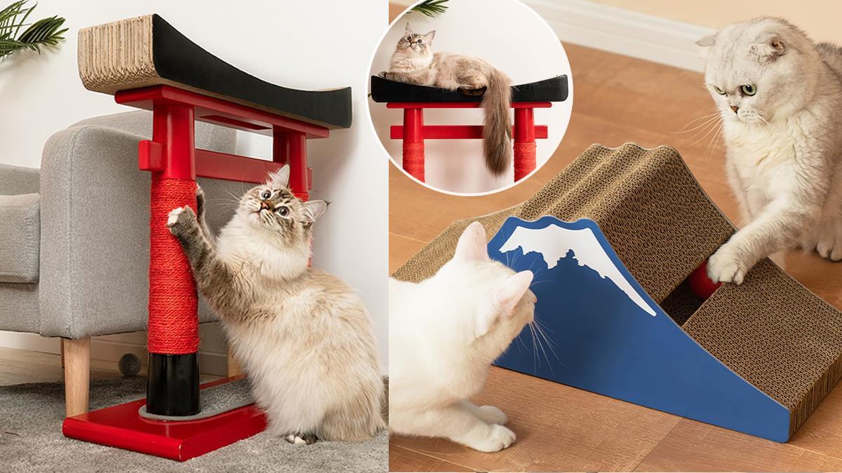 輕鬆實現貓貓出國夢!「異國風情貓抓板」主子一定超歡喜,趴在神社鳥居上簡直放肆啊♡