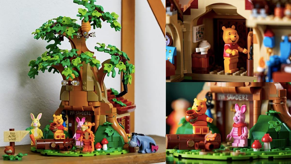 維尼控想直接搬進去住!樂高推出「小熊維尼樹屋」組合,精緻細節+5大好友讓人想一起同居啦♥