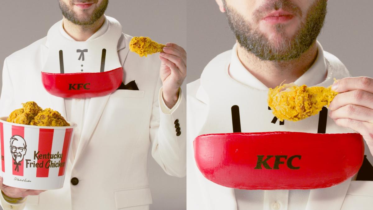 一粒炸雞屑也不浪費!肯德基「炸雞圍兜兜」怎麼吃都不掉碎片,還有超優惠「買一送一卷」太心動♥