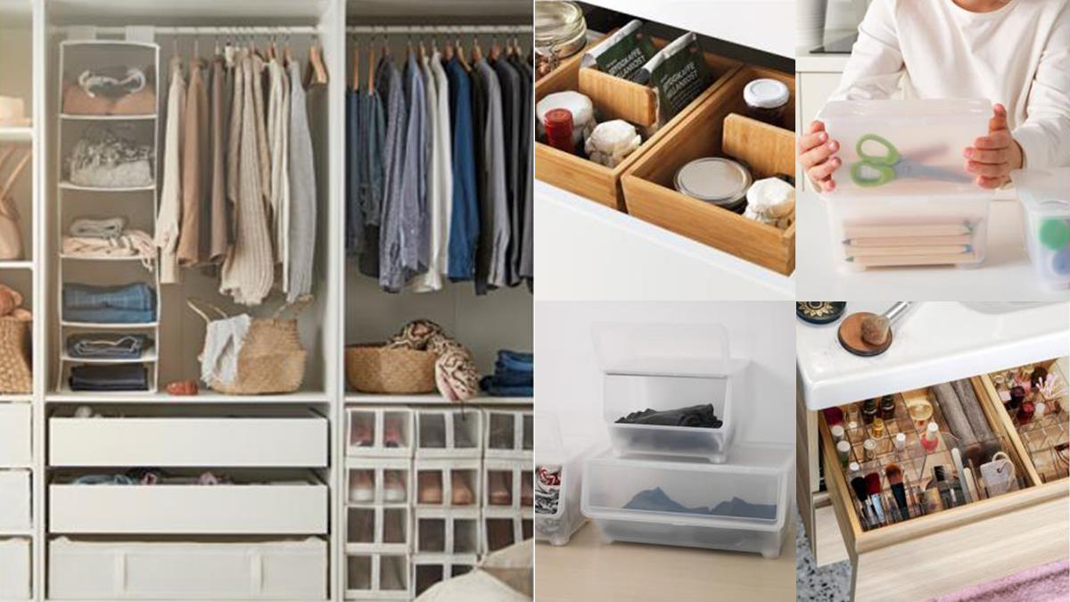 不起眼卻超能裝~IKEA隱藏版「百元收納小物」TOP10推薦,有它們化妝台、衣櫃空間瞬間多一倍!