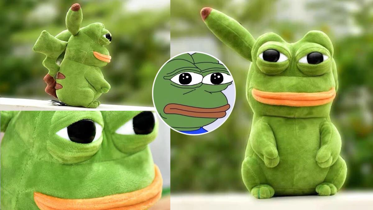這眼神看得我生無可戀!「梗圖青蛙X皮卡丘」實體化爆毀童年,已經不是悲傷流淚、是恐怖到哭了吧~