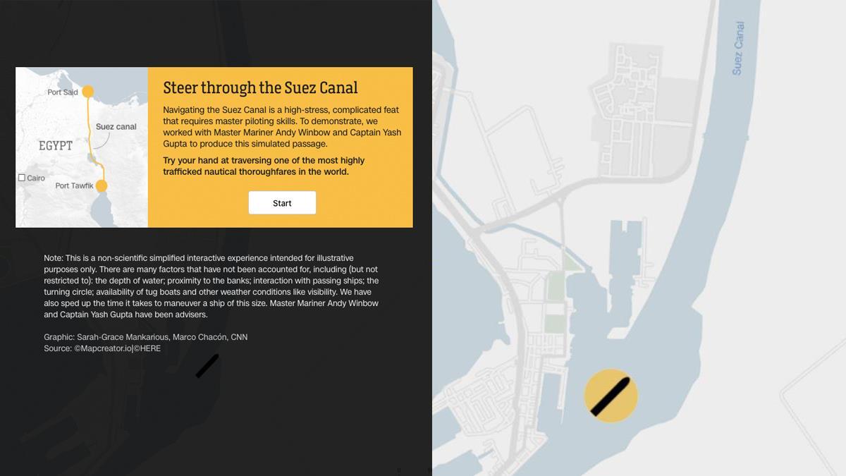 才開1秒就撞壁!CNN推出「蘇伊士運河開船」小遊戲,難度突破人類想像網崩潰:難怪會大排長榮!