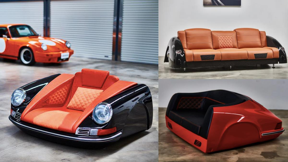 買不起跑車也能有尊爵坐駕!5款超狂「跑車造型沙發」,男友最愛的保時捷、野馬、福特通通有~