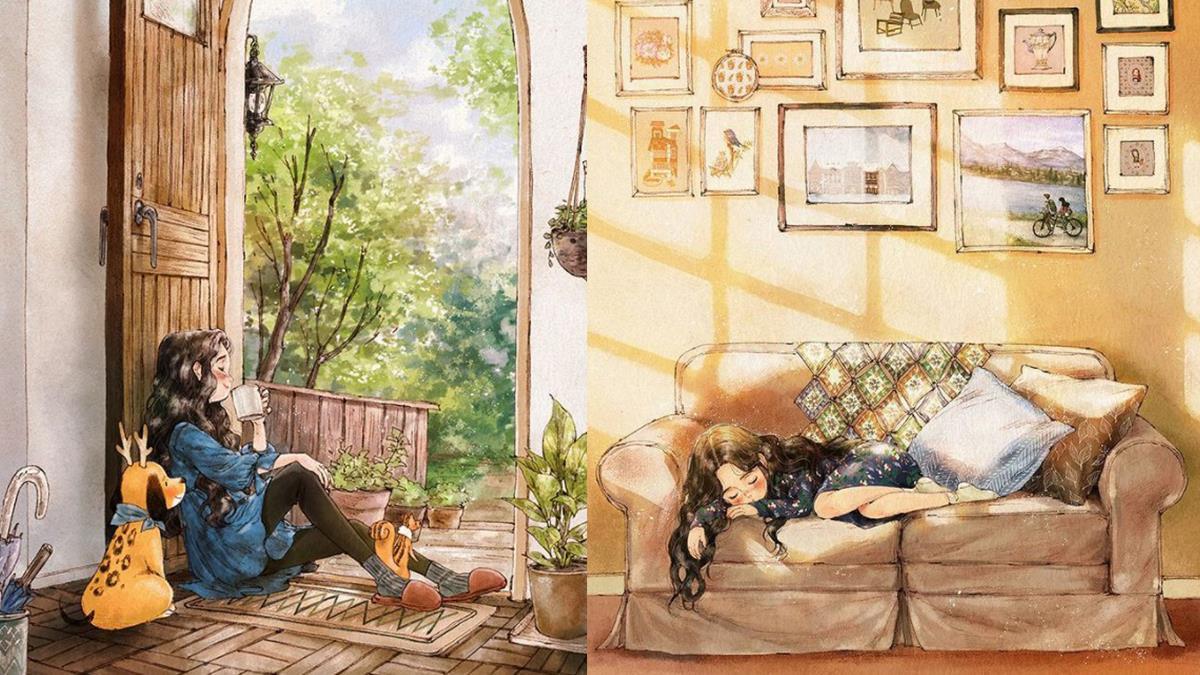 沙發抱枕本來就比男人還好抱啊!8件令情侶羨慕忌妒恨「單身女孩唯美生活日常」,放假日就是發懶日啊~