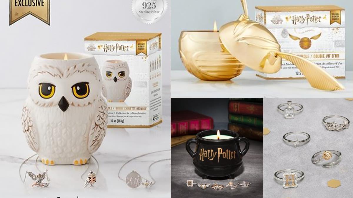 嘿美和金探子全登場♥《哈利波特》聯名11款香氛蠟燭,內還藏著絕美「項鍊」和「戒指」啊~
