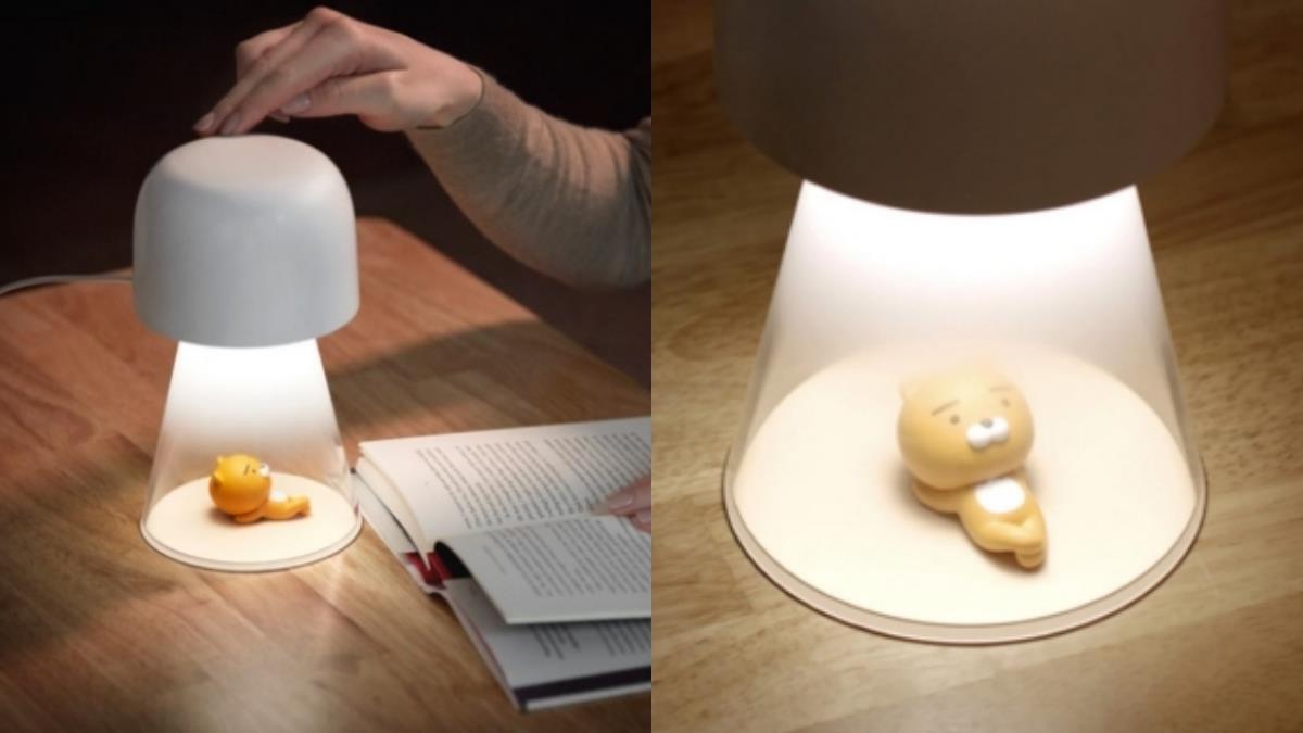 萊恩跑來家裡曬日光浴啦!KakaoFriends推出「萊恩智慧型檯燈」,觸控面板+遠端APP操控根本是懶人知音