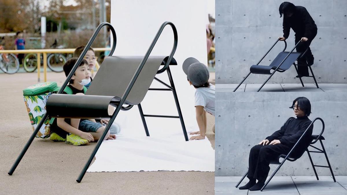 隨時隨地溜起來!日本設計師把「溜滑梯」變成椅子,想坐椅子麻煩先爬樓梯!