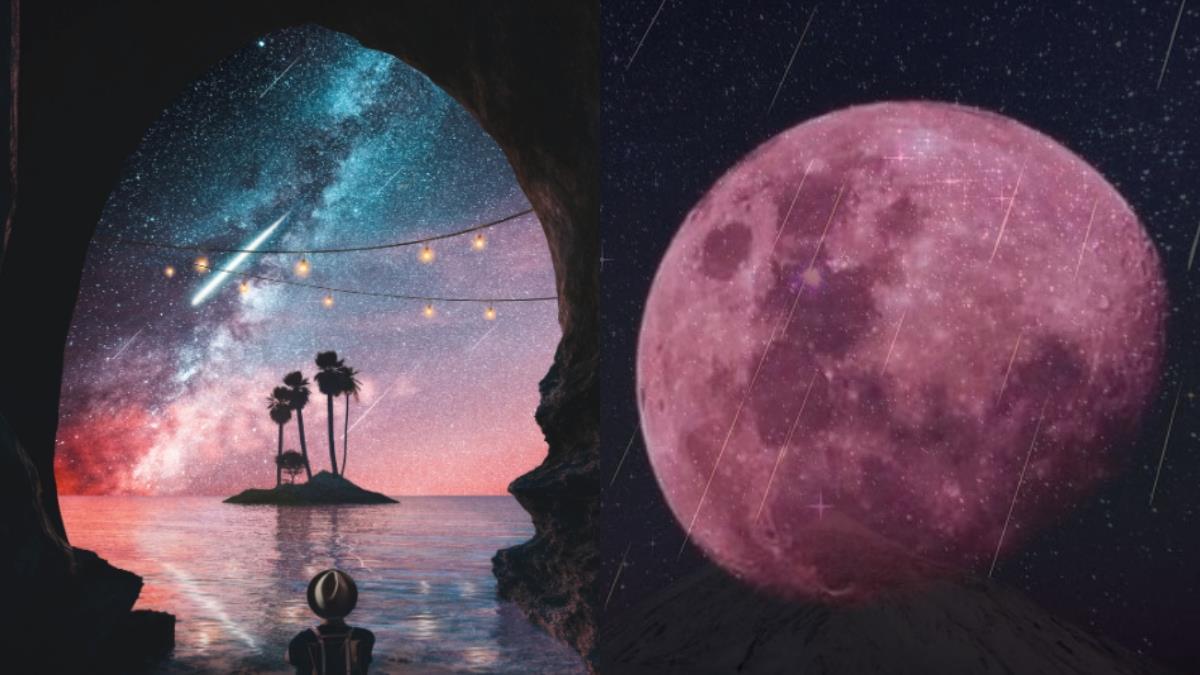 願望許不完!「流星雨&超級月亮」降臨4月,天空佈滿浪漫的氛圍❤️