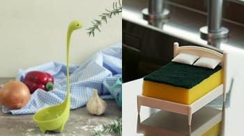 尼斯湖水怪出現在鍋子裡!特搜4款「超有趣廚房小物」可愛又實用,菜瓜布終於有專屬小床床啦~