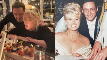 金剛狼公開撒糖!休傑克曼PO舊婚照慶「結婚25週年」,甜蜜告白老婆:和妳在一起像呼吸一樣自然