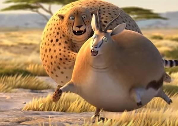 如果動物全都變得肥滋滋,花豹追捕羚羊時會發生什麼事?