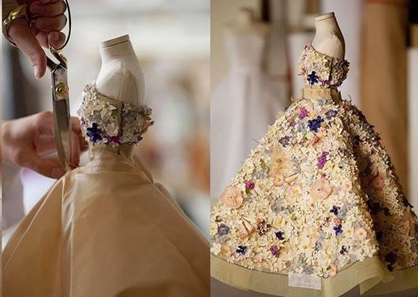 師傅大方公開迷你版晚禮服的製作方法,你會覺得製作過程就已經是種藝術了