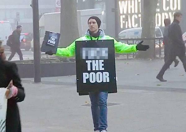 明明是慈善廣告卻高喊「窮人去死」?背後用意讓所有人深深反省!