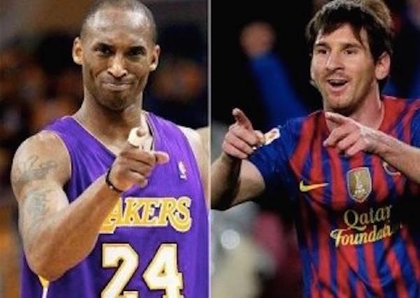 科比與梅西大顯身手,就是為了PK誰能吸引小球迷的注意,你猜最後誰贏?