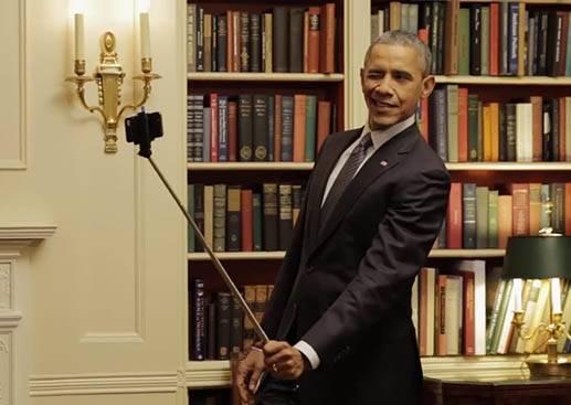 大總統不為人知的一面,歐巴馬原來也是自拍棒忠實愛好者?