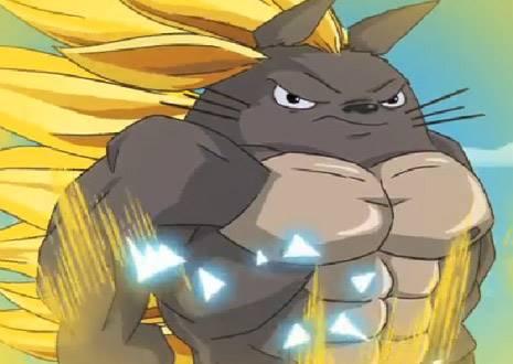 龍貓變身筋肉人?如果宮崎駿動畫混搭其他卡通的話...