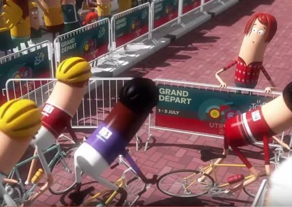 情侶因為自行車比賽而走散,男友乾脆改變比賽路線,給女友一個超大驚喜!