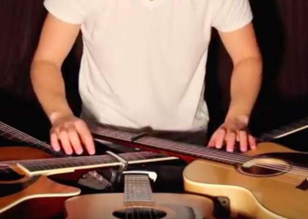 5個人彈一把吉他不稀奇,但一個人彈「5把」吉他就真的是高手啦!