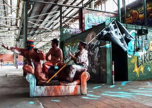 當塗鴉高手遇見一座廢棄倉庫...最精采的大型藝術品就這樣誕生了!