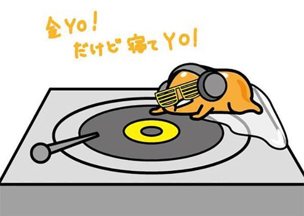 別說蛋黃哥只會發懶!他還會當Rapper刷音盤Yo~