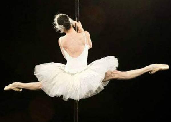 沒人知道這位芭蕾舞者的舞台為何有根鋼管,但當她第40秒跳上鋼管後,全場驚豔到說不出話了...