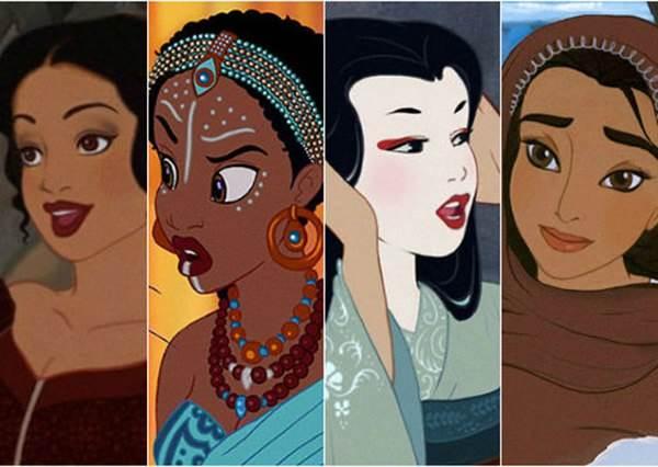 灰姑娘變日本和服女!如果迪士尼公主換了膚色、種族,你還認得出她嗎?