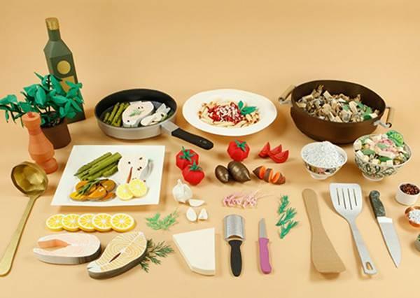 這個烹飪教學影片絕對是最讓人分心,因為居然全都是紙做的!?