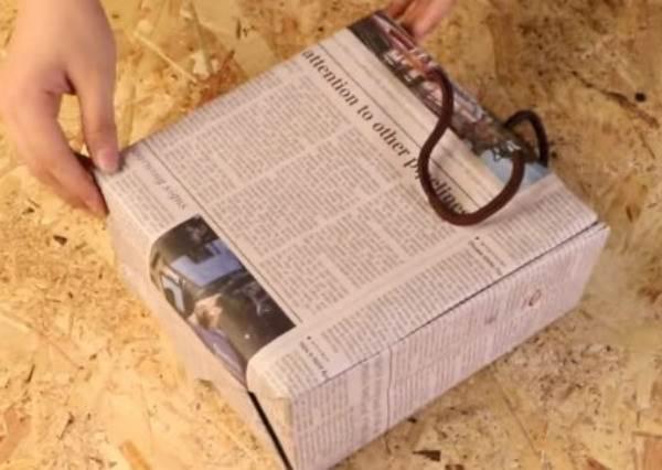 簡單做!時尚報紙提袋