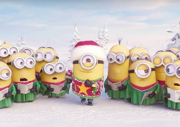 小小兵推出了聖誕節特別版歌曲,而這一次的「演唱」也讓網友們從聖誕笑到跨年!