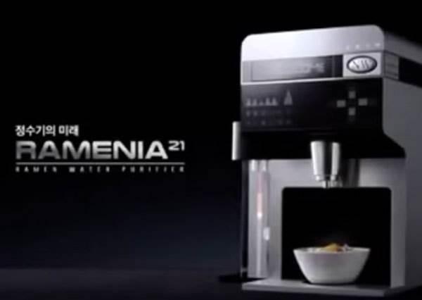 韓國最新劃時代發明─泡麵飲水機,連包裝都不用拆就能自動幫你泡到好!?