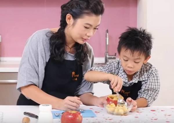 【小魚媽食育教室】優格蘋果盅
