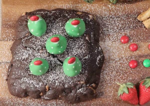聖誕派對甜心,平底鍋布朗尼
