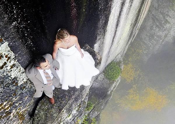 350英呎懸崖搏命拍婚紗,到底是是要逼死新人還是攝影團隊!