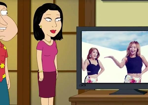 是從小培養審美觀嗎?美國卡通出現韓國性感女團SISTAR!