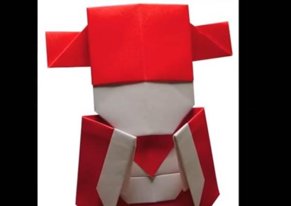新的一年想讓財源滾滾來?只要2張正方形紅色就能摺出福氣小財神!