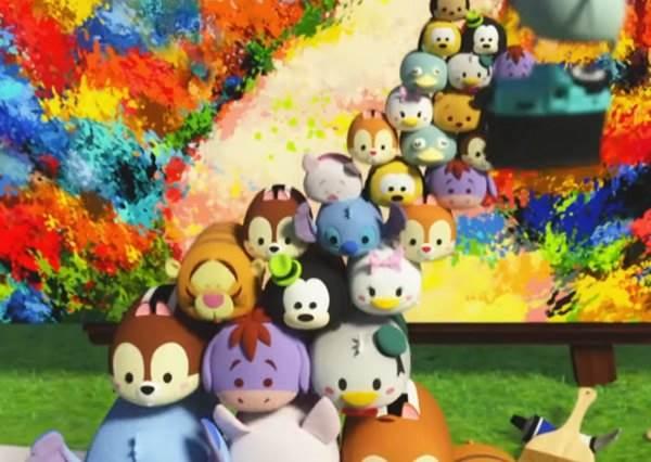 萌到沒極限!迪士尼圓滾滾Tsum Tsum們使出各種絕招,挑戰不用手的塗鴉大賽