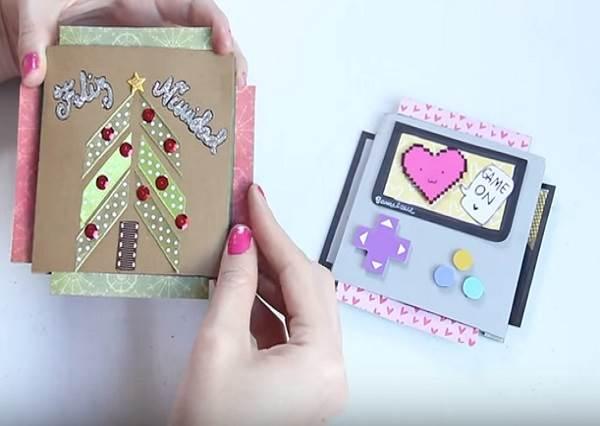 只要黏這層塑膠帶,就能做「互動式卡片」?隨便拉一邊,驚喜全部跑出來!