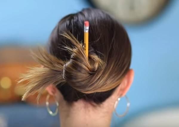 姊就是隨性!用鉛筆就能10秒輕鬆DIY出三種隨性包頭!