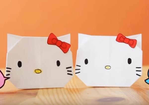 一張白紙就搞定!萬人迷kitty貓摺紙原來這麼簡單~