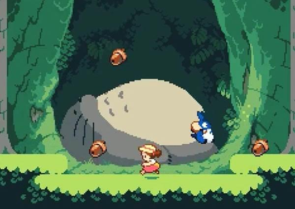 瘋狂粉絲太想躺在龍貓肚子上,決定自製小遊戲滿足每個宮崎駿迷的妄想・ิ≖ ω ≖・ิ✧